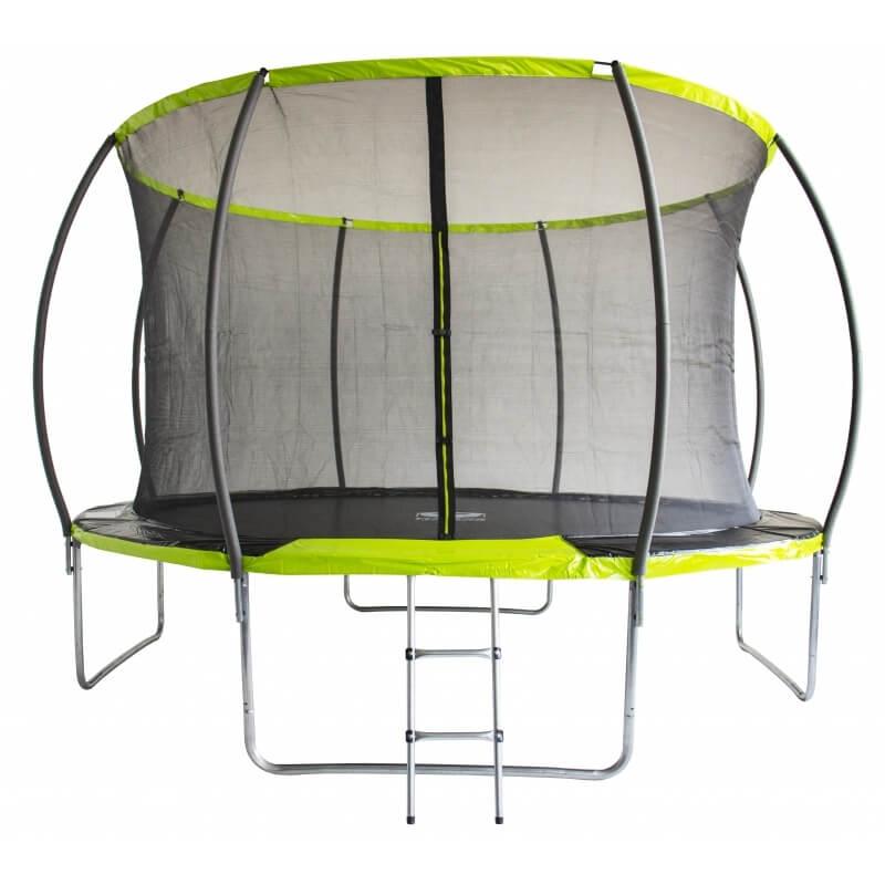 "Батут ""Fitness Trampoline GREEN"" (12 FT) Extreme Inside с внутренней сеткой и лестницей. Диаметр - 366 см. Нагрузка - 180 кг."