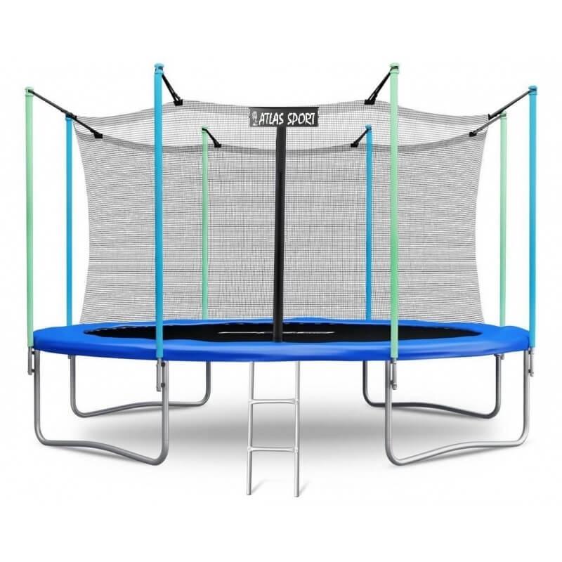 """Батут """"Atlas Sport"""" (14ft) BLUE с внутренней сеткой и лестницей. Диаметр - 435 см. Нагрузка - 180 кг."""