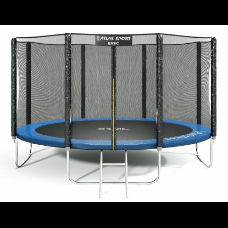 """Батут """"Atlas Sport"""" (13ft) Basic BLUE с внешней сеткой и лестницей. Диаметр - 404 см. Нагрузка - 180 кг."""