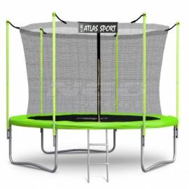 """Батут """"Atlas Sport"""" (8ft) GREEN с внутренней сеткой и лестницей. Диаметр - 252 см. Нагрузка - 120 кг."""