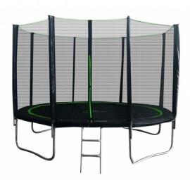 "Батут ""MiSoon"" (14ft) Basic с внешней сеткой и лестницей. Диаметр - 425 см. Нагрузка - 150 кг."