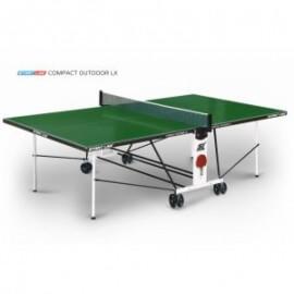 Теннисный стол START LINE Compact Outdoor-2 LX GREEN, 6044-11, с сеткой, композитный на роликах
