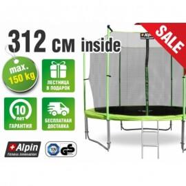 Батут Alpin inside 3.12 м с защитной сеткой и лестницей (усиленные опоры)