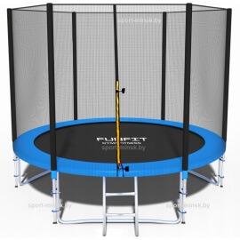"""Батут """"FunFit"""" (10ft) PRO с внешней сеткой и лестницей (усиленные опоры). Диаметр - 312 см. Нагрузка - 150 кг."""