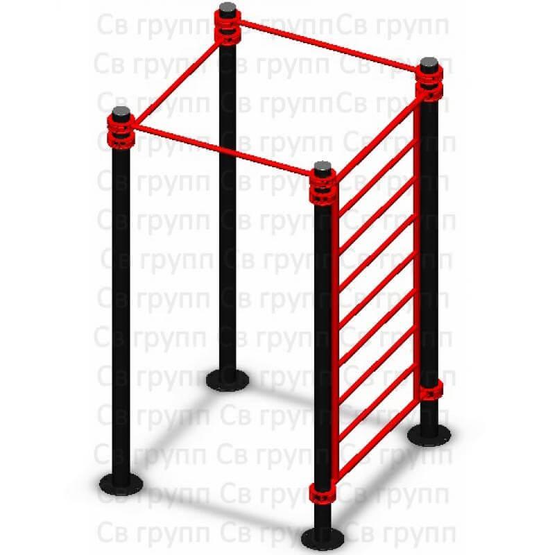 Спортивный комплекс Sv Sport воркаут (workout) квадрат + лестница