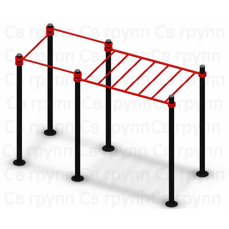 Спортивный комплекс Sv Sport воркаут (workout) квадрат + рукоход