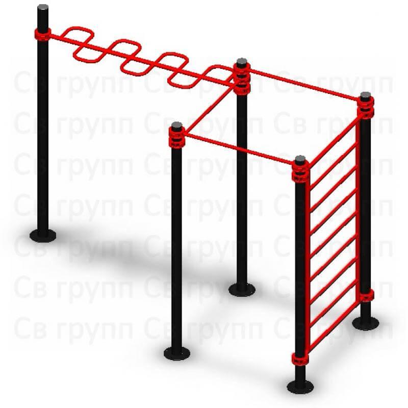 Спортивный комплекс Sv Sport воркаут (workout) квадрат + змейка + лестница