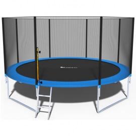 """Батут """"FunFit"""" (14 ft) с внешней сеткой и лестницей. Диаметр - 435 см. Нагрузка - 180 кг."""