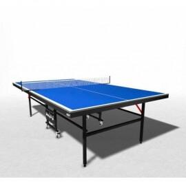Теннисный стол всепогодный композитный на роликах WIPS Roller Outdoor Composite + сетка с креплениями в подарок (синий)
