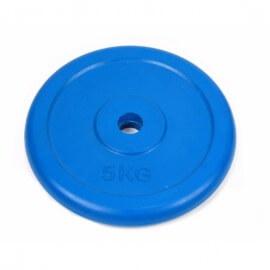 Диск обрезиненный 5кг Atlas Sport металлическая основа (посад. диаметр 26 мм)
