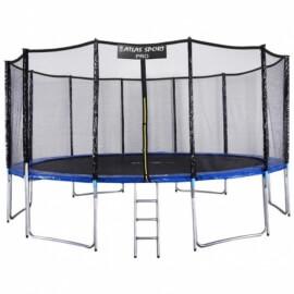 """Батут """"Atlas Sport"""" (16ft) PRO BLUE с внешней сеткой и лестницей(усиленные опоры). Диаметр - 490 см. Нагрузка - 180 кг."""