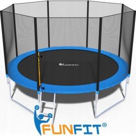 """Батут """"FunFit"""" (12 ft) с внешней сеткой и лестницей. Диаметр - 374 см. Нагрузка - 150 кг."""
