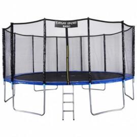 """Батут """"Atlas Sport"""" (16ft) Basic BLUE с внешней сеткой и лестницей. Диаметр - 490 см. Нагрузка - 180 кг."""