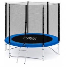 """Батут """"Atlas Sport"""" (8ft) PRO BLUE с внешней сеткой и лестницей (усиленные опоры). Диаметр - 252 см. Нагрузка - 120 кг."""