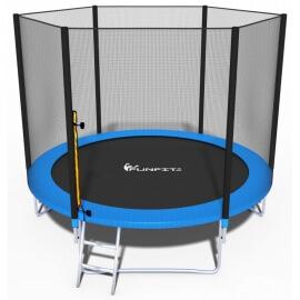 """Батут """"FunFit"""" (8 ft) с внешней сеткой и лестницей. Диаметр - 252 см. Нагрузка - 120 кг."""