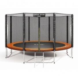 """Батут """"Atlas Sport"""" (12ft) PRO ORANGE с внешней сеткой и лестницей(усиленные опоры). Диаметр - 374 см. Нагрузка - 150 кг."""