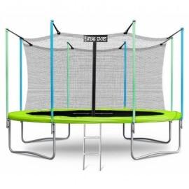 """Батут """"Atlas Sport"""" (12ft) GREEN с внутренней сеткой и лестницей. Диаметр - 374 см. Нагрузка - 150 кг."""