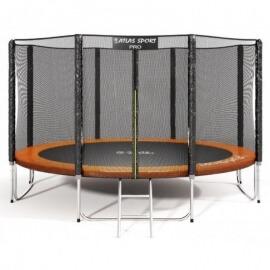 """Батут """"Atlas Sport"""" (14ft) PRO ORANGE с внешней сеткой и лестницей(усиленные опоры). Диаметр - 435 см. Нагрузка - 180 кг."""