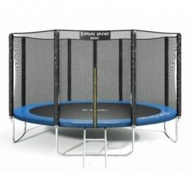 """Батут """"Atlas Sport"""" (12ft) BLUE с внешней сеткой и лестницей. Диаметр - 374 см. Нагрузка - 150 кг."""