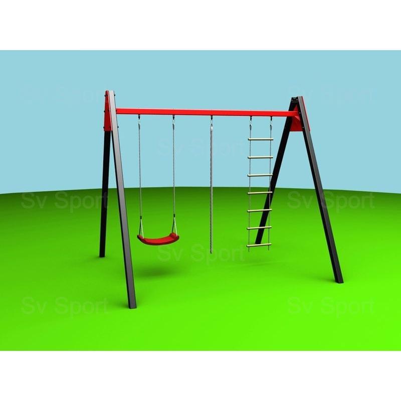 Уличные качели Sv Sport 2,4м (качели пластиковые + канат + веревочная лестница)