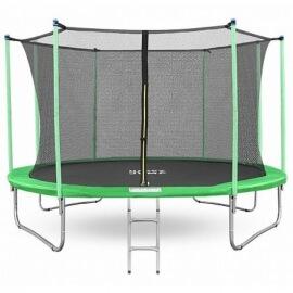 """Батут """"Happy Jump"""" (12ft) PRO с внутренней сеткой и лестницей. Диаметр - 374 см. Нагрузка - 180 кг."""
