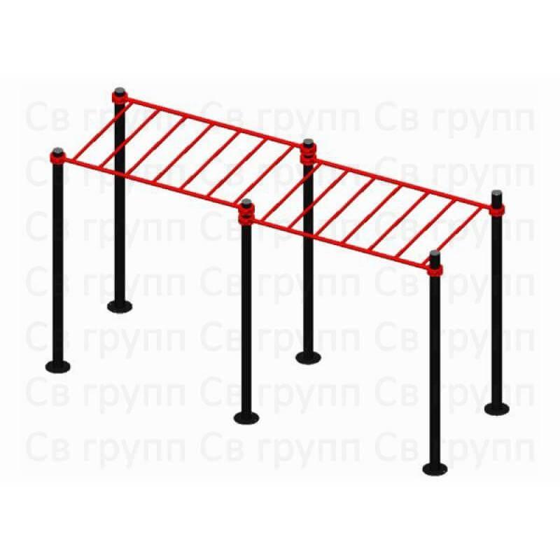 Спортивный комплекс Sv Sport воркаут (workout) квадрат + двойной рукоход