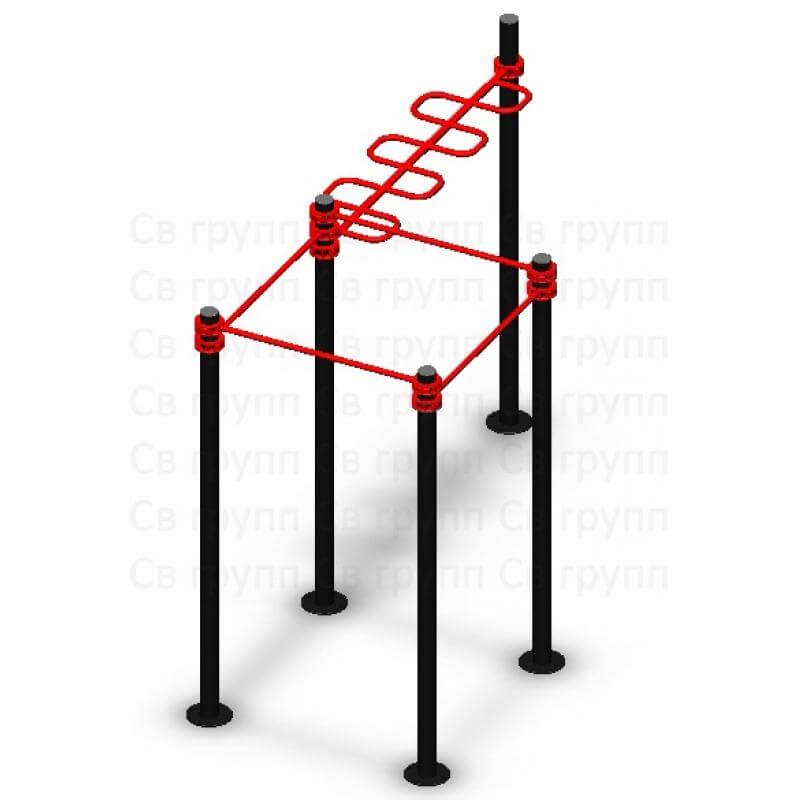 Спортивный комплекс Sv Sport воркаут (workout) квадрат + змейка